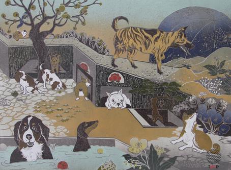 無法重印的版畫,台灣版畫家在一刻一印中享受慢活-專訪台灣版印年畫得獎版畫家許以璇