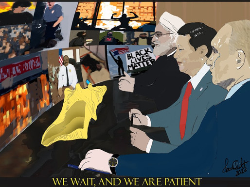 Cartoon: We Wait, And We Are Patient.