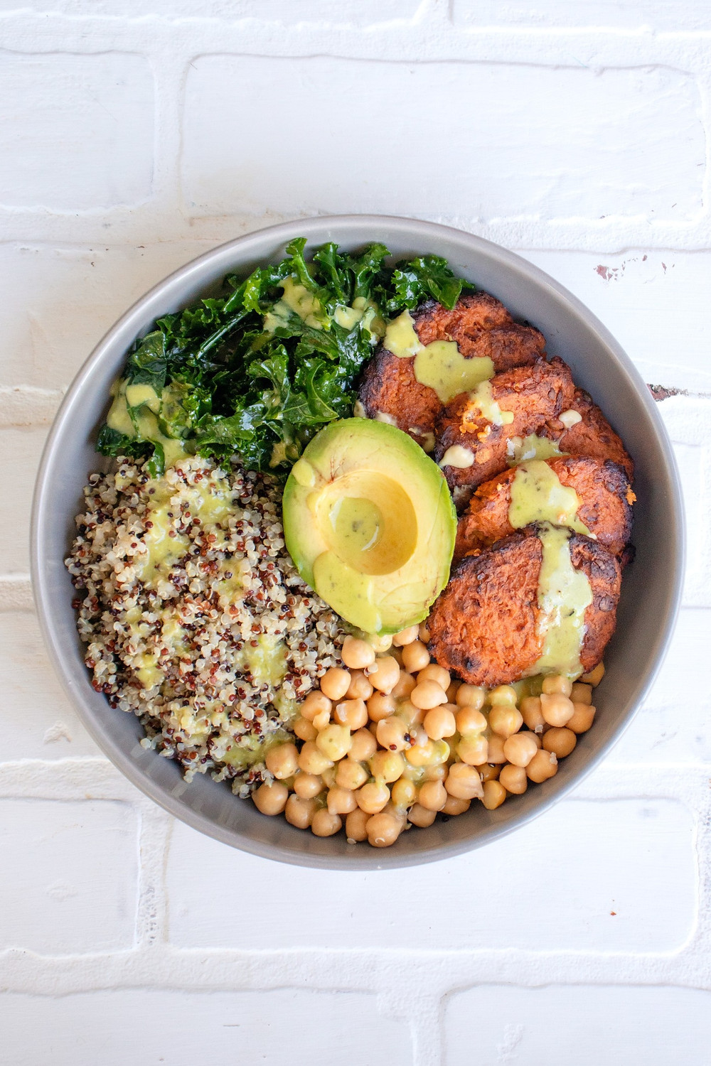 Sweet potato Patty buddha bowl