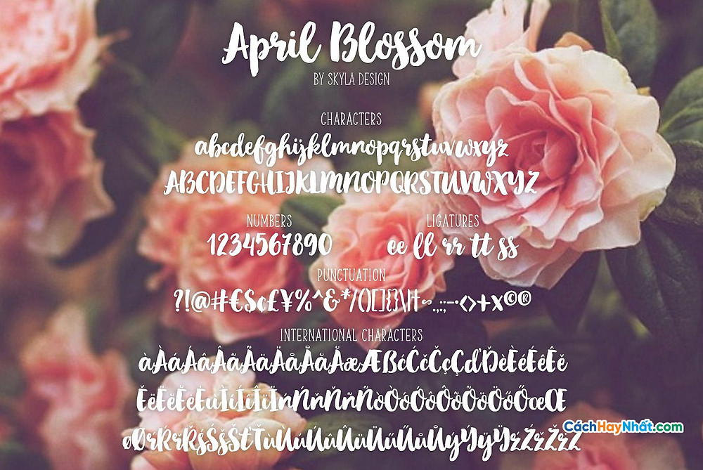 Download Free Font April Blossom Tuyệt Đẹp