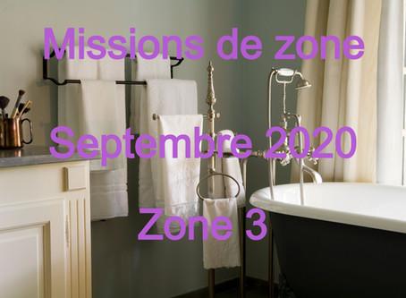 Zones : Missions semaine 38 - Zone 3