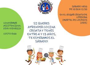 Los esperamos el sábado en la clase de cocina para niños!