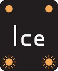 Warning Ice sign used on motorways