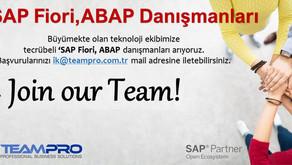 SAP Fiori, ABAP Danışmanları Arıyoruz.