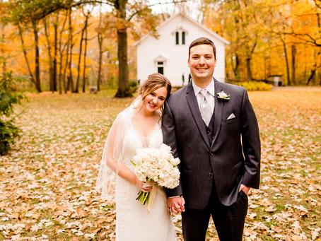 Kassadie + Mitch's Elegant Fall Wedding in Illinois