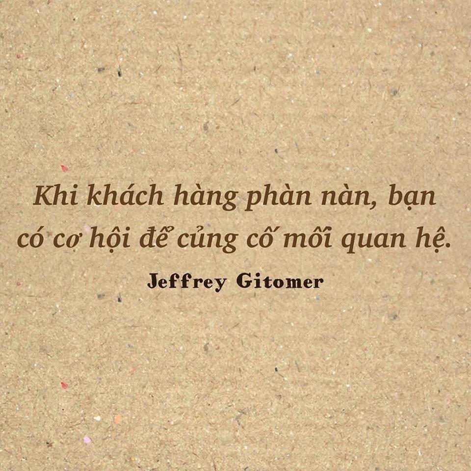 Củng cố mối quan hệ Jeffrey Gitomer