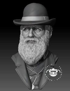 3D Charles Darwin model