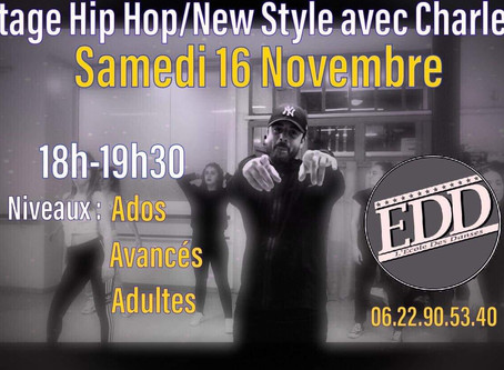 Stage HipHop/New Style avec Charley