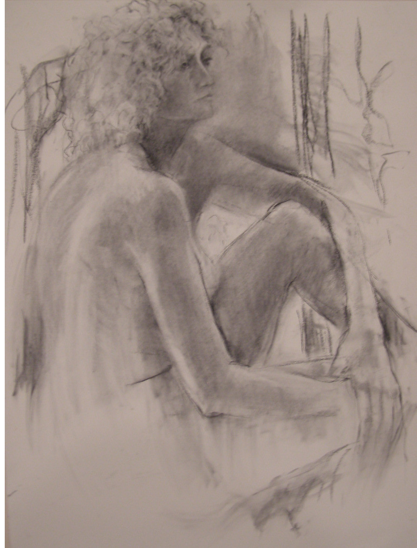 Dana, Charcoal on rag paper