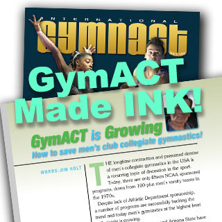 GymACT featured on International Gymnast Magazine