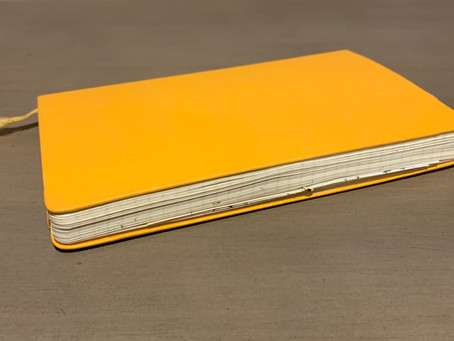 The yellow Moleskine notebook
