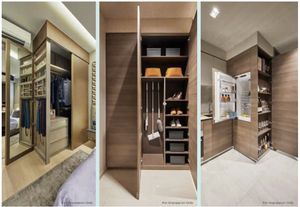 Smart storage system in The Florence Residence