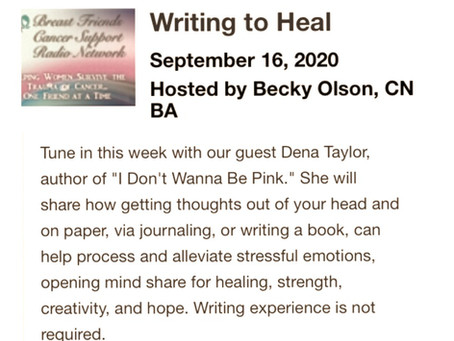 Writing to Heal—interview with breast cancer survival expert, Becky Olson