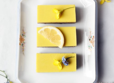 Tea and Lemon Panna Cotta Bars