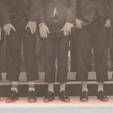 Men in Lines