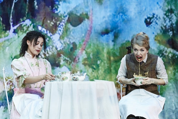Melissa Lowe and Elizabeth Twells in Octagon Theatre Bolton's production of The Importance of Being Earnest