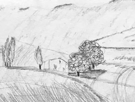 Mes Elèves sont formidables .7 / 10 /2020 Au crayon , un paysage ...