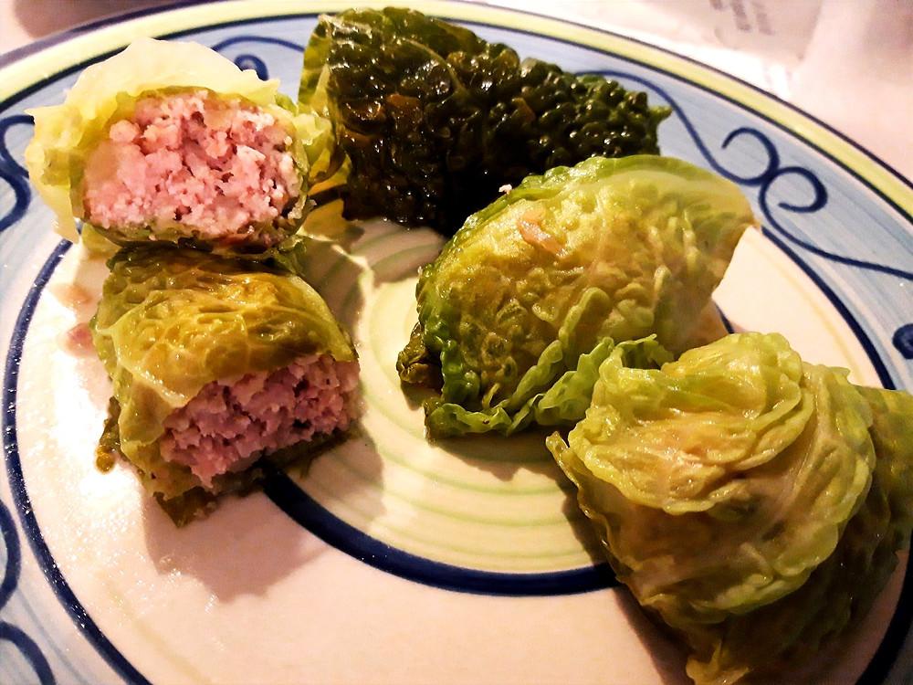 Involtini di verza e carne bianca