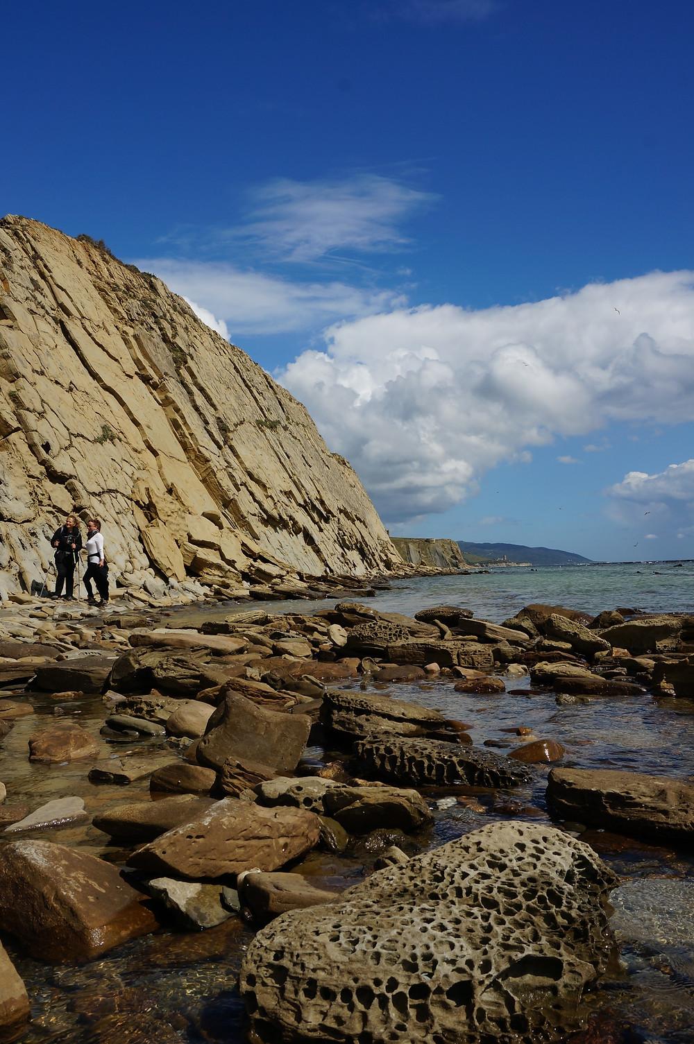 Coastal rock formations east of Tarifa