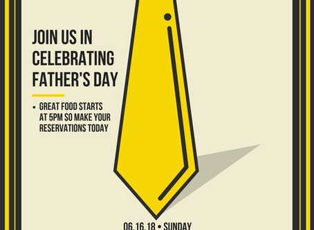 June 16- Father's Day