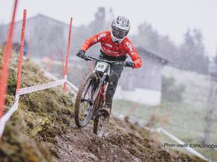 Noah Hofmann (3EK) bei der Downhill Weltmeisterschaft