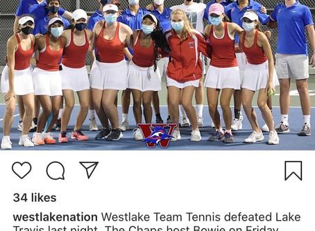 Chap Tennis Over Lake Travis