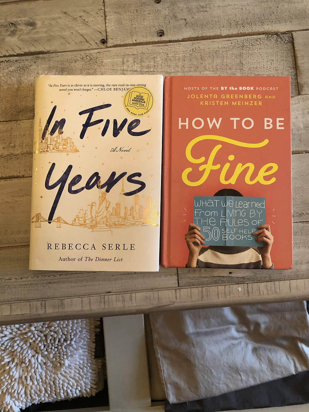 The books In Five Years and How to be Fine