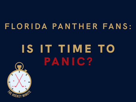 Florida Panther Fans: Is It Time To Panic?