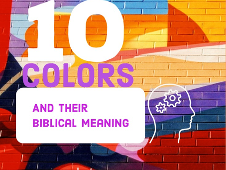 10 Colors and their meaning