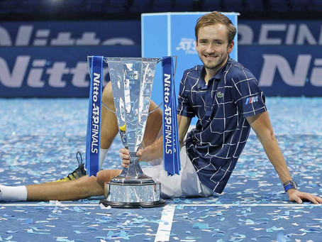 MEDVEDEV (RUS) WINS 9TH TITLE AT NITTO ATP FINALS