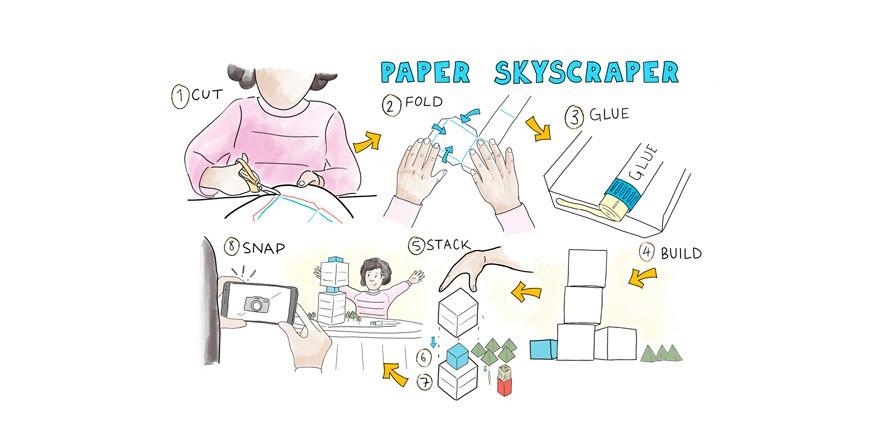 Make a paper skyscraper #architecturefromhome
