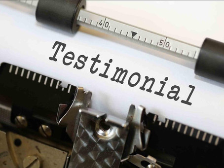 Thanks for the testimonials!