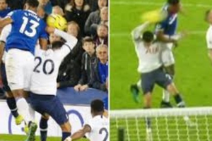 Dele Alli's handball, not given after a lengthy VAR review.
