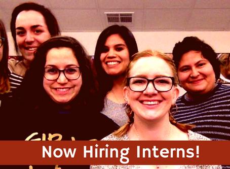 We're Hiring Interns!