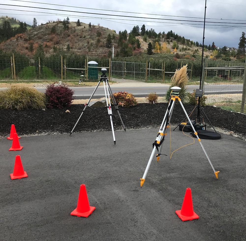 Drone LiDAR baset station GNSS setup