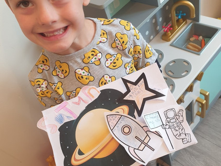Max W in 1TM has been busy creating a space lift the flap book.