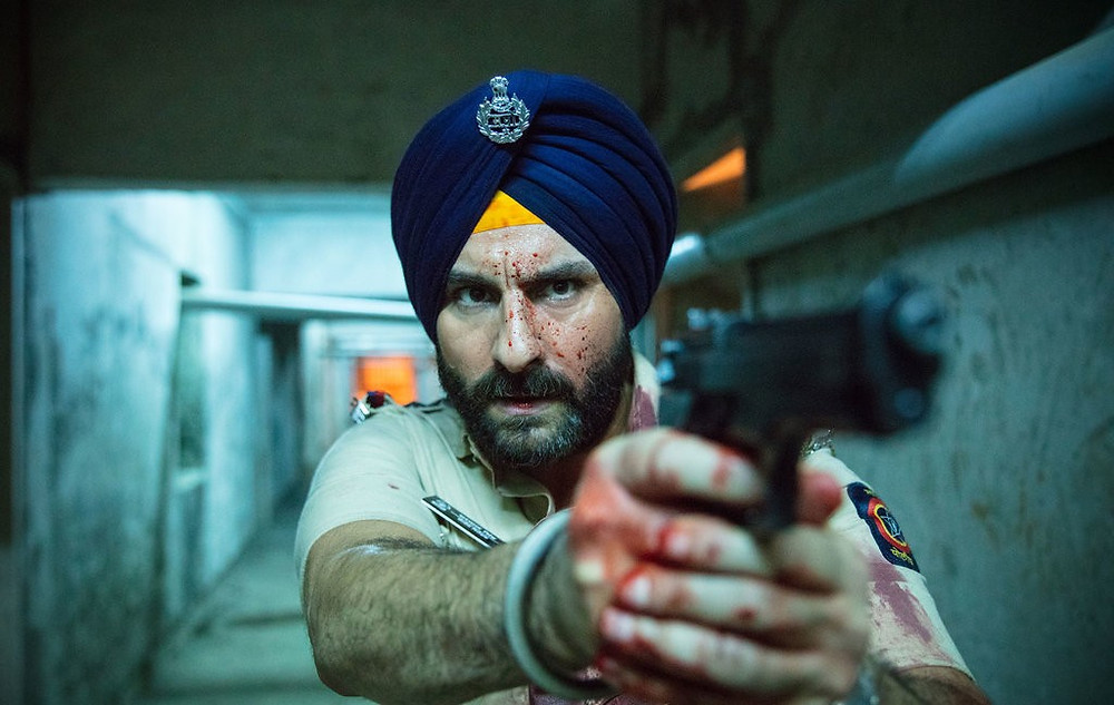 Still of Sartaj from the TV show Sacred Games.
