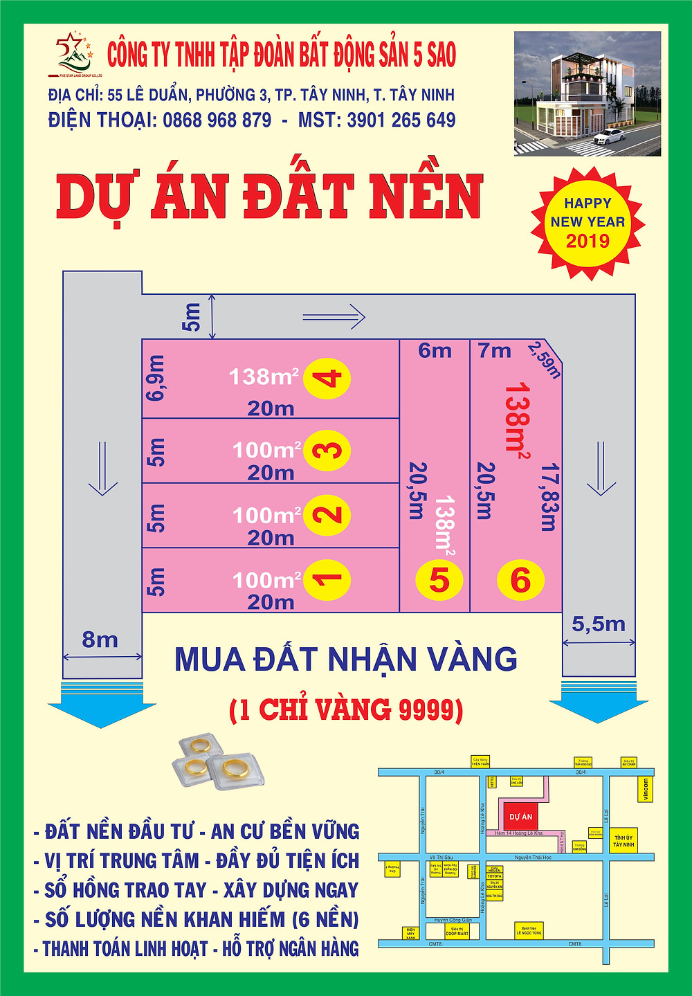 Dự án đất nền đường Hoàng Lê Kha -TP Tây Ninh