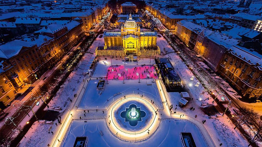 Croácia no inverno