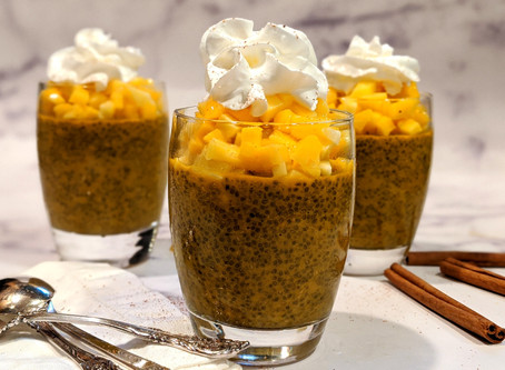 Golden Chia Pudding with Mango