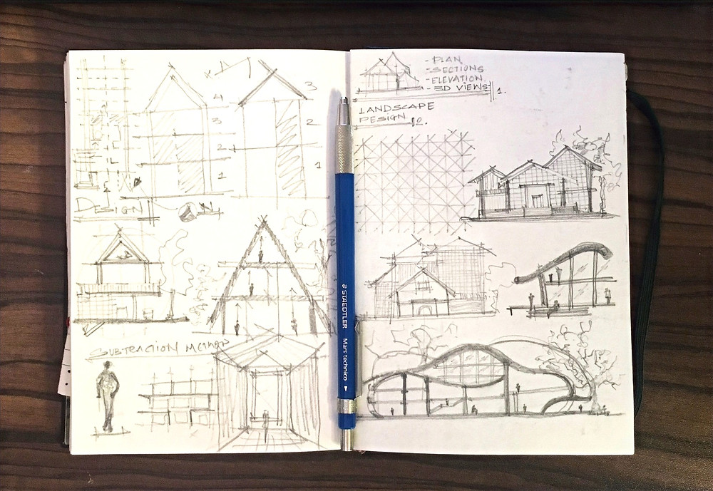 archiol - 10 tips to sketch like an architect - embrace inexactness
