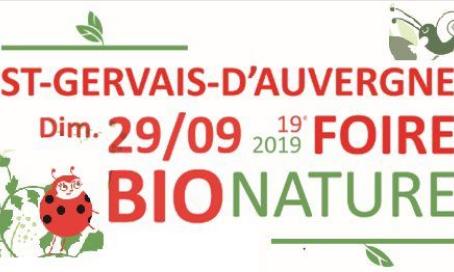 29 septembre : Foire Bio Nature à St Gervais d'Auvergne