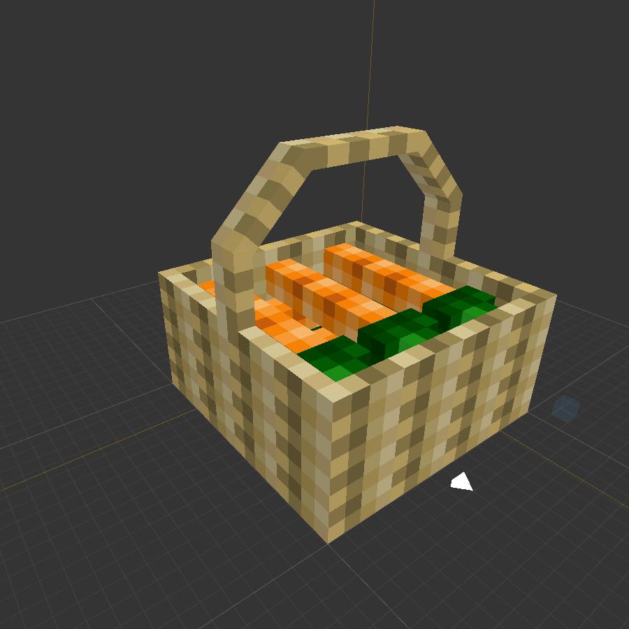 More Blox Minecraft Mod Carrot Basket