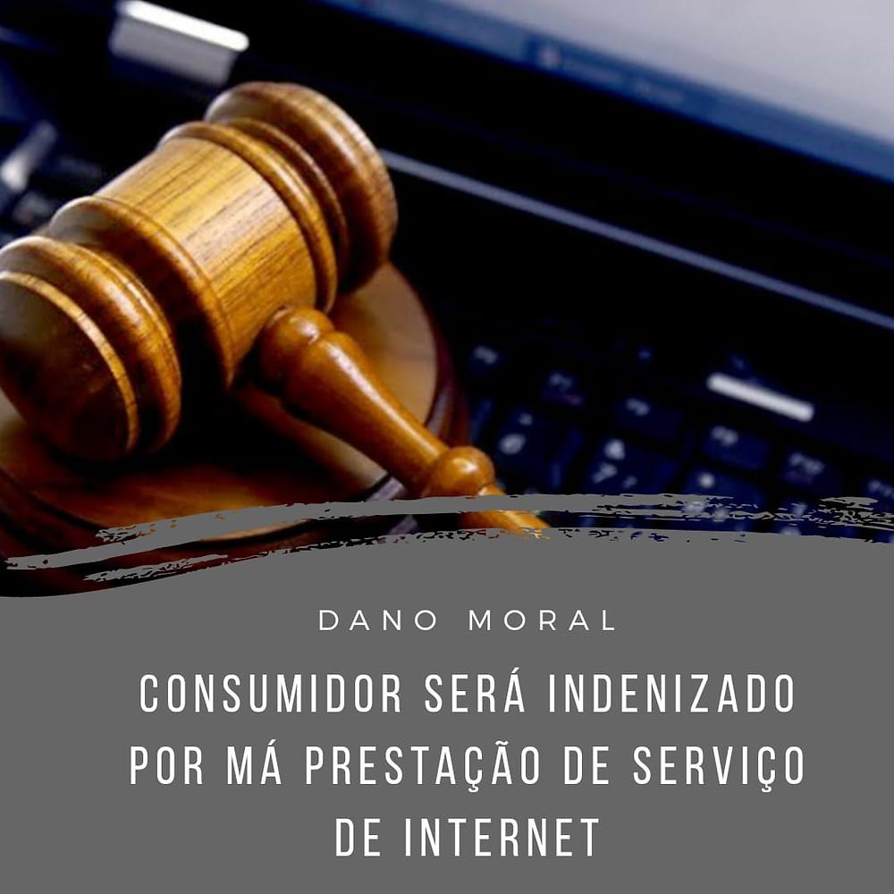 indenização dano moral falha serviço internet jurisprudência