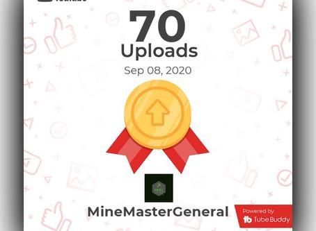 70 Uploads in YouTube!!!