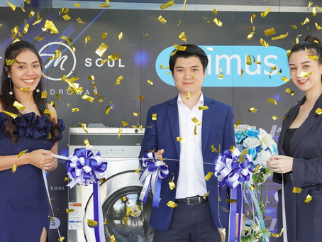ร้านสะดวกซัก 'THE M SOUL'  จัดจำหน่ายเครื่องซักผ้าแบรนด์ระดับโลก 'PRIMUS' ให้ลูกค้าใช้บริการ