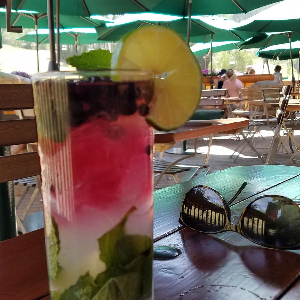 Royal Street Cafe's Blueberry Mojito