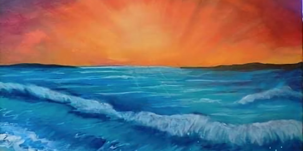 TOOWOOMBA - Learn to Sip 'n' Paint 'Sunset Waves'