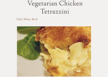 Vegetarian chicken tetrazzini