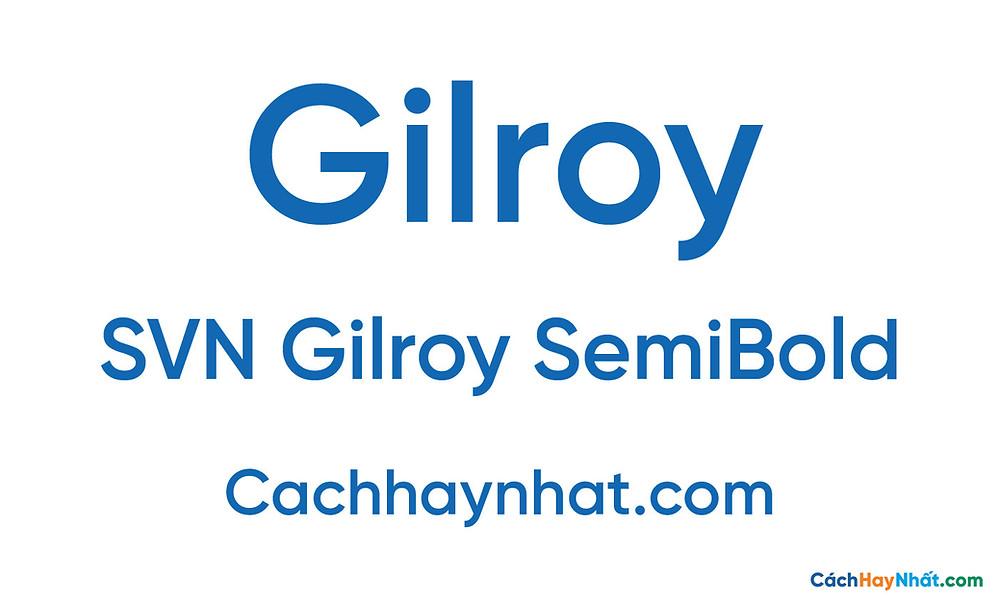 SVN Gilroy SemiBold